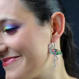 """Boucles d'oreilles """"Liz'Créations - Flamand"""" en argile polymère"""