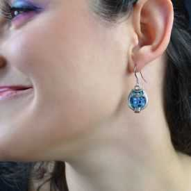 """Boucles d'oreilles """"Liz'Créations - Hibou"""" en argile polymère"""