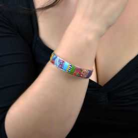 """Bracelet """"Liz'Créations - Cléopâtre"""" en argile polymère"""