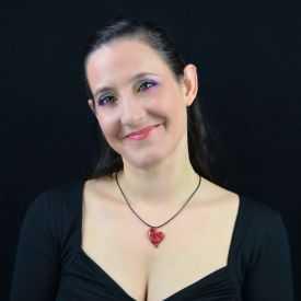 """Collier """"Liz'Créations - Coeur Rouge"""" en argile polymère"""