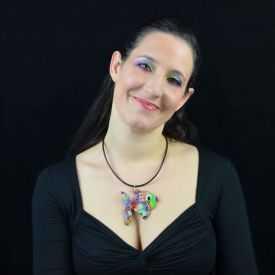 """Collier """"Liz'Créations - Grand Poisson"""" en argile polymère"""