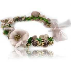 """Couronne de fleurs """"Retro"""" en tissu"""