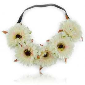 "Headband / Couronne de fleur ""Gerbera"" en tissu"