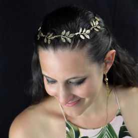 """Headband """"Athéna"""" en métal doré"""