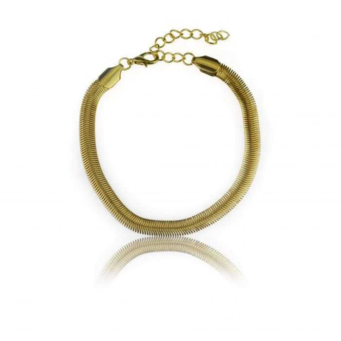 """Bracelet de cheville """"Fluide"""" en métal"""