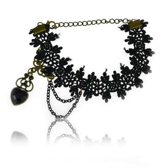 "Bracelet de cheville ""Barocco"" en tissu"