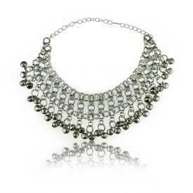 """Bracelet de cheville """"Ring"""" en métal argenté"""
