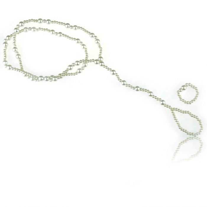 """Bracelet de cheville """"Iridescent"""" en perles de synthèse"""