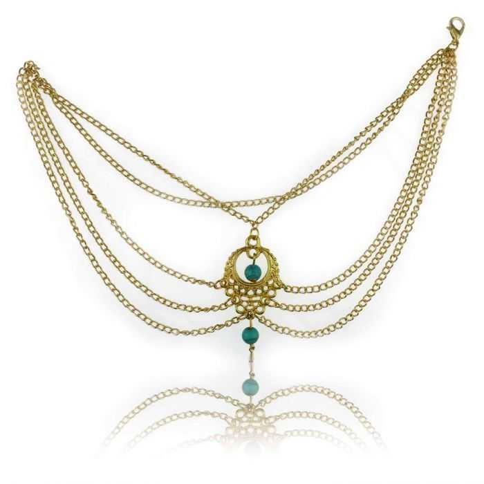 """Bracelet de cheville """"Mumbaï"""" en métal"""