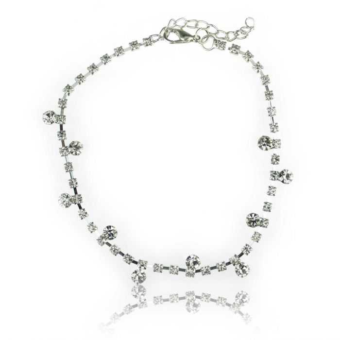 "Bracelet de cheville ""Shine"" en strass"