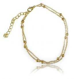 """Bracelet de cheville """"Boles"""" en métal"""