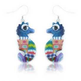 """Boucles d'oreilles """"Liz Créations - Hippocampe"""" en argile polymère"""