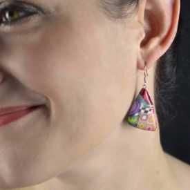 """Boucles d'oreilles """"Liz Créations - Jungle"""" en argile polymère"""