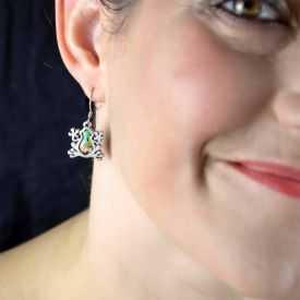 """Boucles d'oreilles """"Liz Créations - Grenouille"""" en argile polymère"""