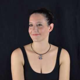 """Collier """"Liz Créations - Chat Lune"""" en argile polymère"""