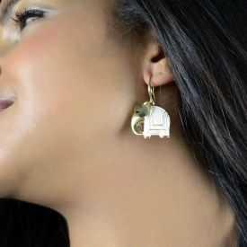"Boucles d'oreilles fantaisie ""Ikita - Elephant"" en métal peint"