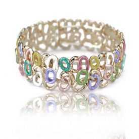 "Bracelet fantaisie ""Ikita - Knots"" en métal peint"