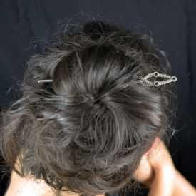 """Pic à cheveux """"Simple"""" en métal"""