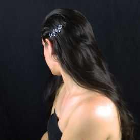 """Épingle à cheveux """"Mini Flowers"""" en métal et strass"""