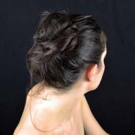 """Pic à cheveux """"Wood - Wave"""" en bois"""