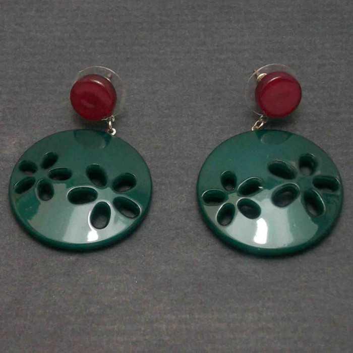 """Boucles d'oreilles """"Acryl - Petites Fleurs"""" en acrylique   Les Bijoux de Camille, bijoux fantaisie pas cher"""