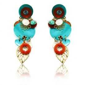 "Boucles d'oreilles fantaisie ""Ikita - Boho Nayade"" en métal et pampilles"