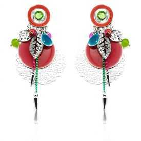 """Boucles d'oreilles """"Ikita - Boho Cannelle"""" en métal et pampilles"""