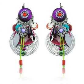 """Boucles d'oreilles """"Ikita - Boho Garance"""" en métal et pampilles"""