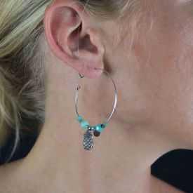 "Boucles d'oreilles ""Ikita - Boho Castille"" en métal et pampilles"