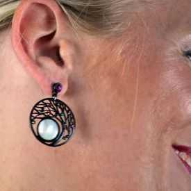 "Boucles d'oreilles ""Ikita - Boho Eve"" en métal et pampilles"