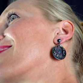 """Boucles d'oreilles fantaisie """"Ikita - Boho Daphné"""" en métal et pampilles"""