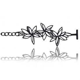"Bracelet fantaisie ""Batucada - Sweet Flowers"" en gomme naturelle"