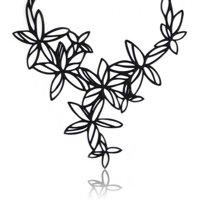 "Collier ""Batucada - Sweet Flowers"" en gomme naturelle"