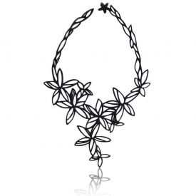 "Collier ""Batucada - Sweet Flowers"" en gomme naturelle"