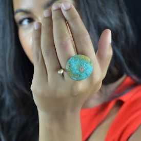"""Bague """"Katerina Vassou - Planet"""" en métal"""