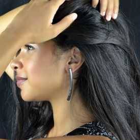 "Boucles d'oreilles ""Katerina Vassou - Clear Lane"" en métal"