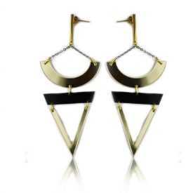 """Boucles d'oreilles """"Katerina Vassou"""" en métal"""