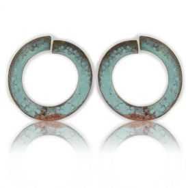 """Boucles d'oreilles """"Katerina Vassou - Color Hoops"""" en métal"""