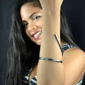 """Bracelet """"Katerina Vassou - Clear Lane"""" en métal"""