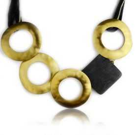 "Collier ""Katerina Vassou - Smooth Hoops"" en métal"