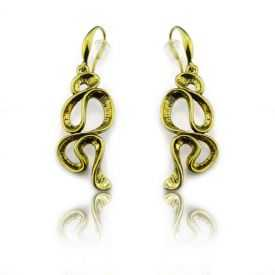 "Boucles d'oreilles ""Ikita - Signs"" en métal doré"