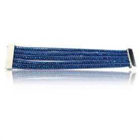 """Bracelet """"Ikita - Spark"""" en métal argenté et perles"""
