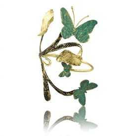 "Bracelet ""Opus 4 - Hermès"" en métal doré peint"