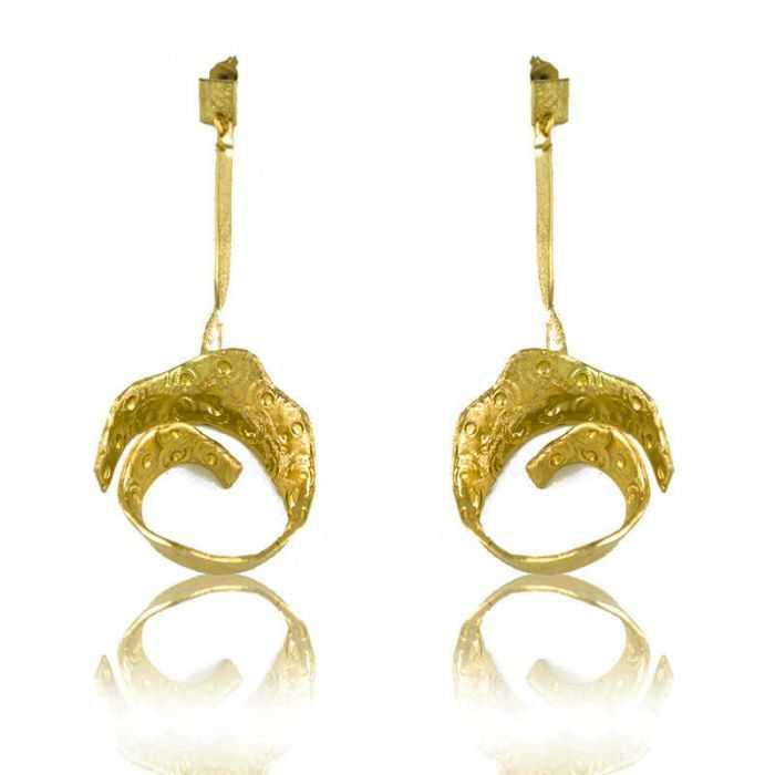 "Boucles d'oreilles ""Opus 4 - Hestia"" en métal doré"