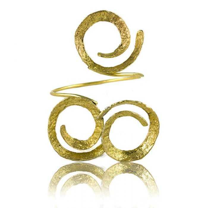 """Bracelet """"Opus 4 - Héra"""" en métal doré peint"""