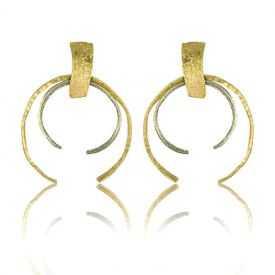 """Boucles d'oreilles """"Opus 4 - Héra"""" en métal doré"""
