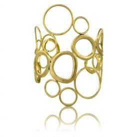"""Bracelet """"Opus 4 - Titans"""" en métal doré"""