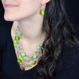 """Parure multiple fantaisie """"Jungle"""" en perles   Les Bijoux de Camille, bijoux fantaisie pas cher"""