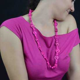 """Collier """"Africa 2"""" en perles de bois   Les Bijoux de Camille, bijoux fantaisie pas cher"""