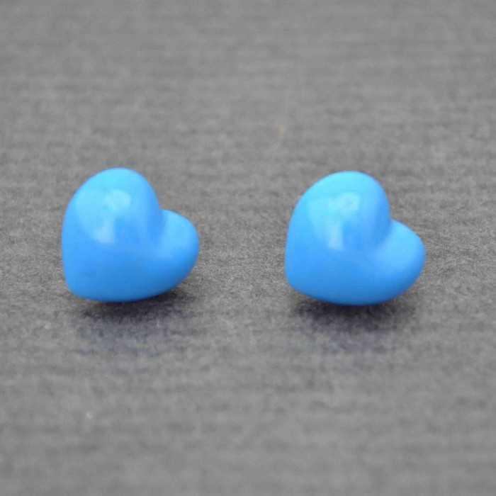 """Boucles d'oreilles fantaisie """"Coeur"""" en résine   Les Bijoux de Camille, bijoux fantaisie pas cher"""